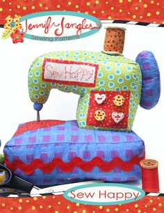 New PDF Sewing Pattern- sewing machine stuffed sew cute-need one for me and several for friends