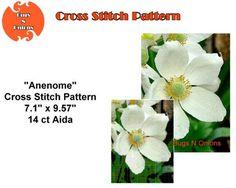 Anenome Cross Stitch Pattern PDF File Instant by BugzAndOnions