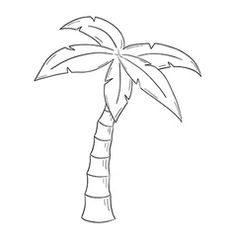 Palm Tree Sketch Vector Images (over Palm Tree Sketch, Palm Tree Drawing, Drawing Sunset, Beach Drawing, Plant Sketches, Tree Sketches, Palm Tree Vector, Vector Trees, Outline Drawings