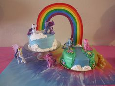 My Little Pony cake for my niece's MLP birthday party.  From Sugar Tarts Crafts blog:  http://www.sugartartcrafts.com/2012/12/aurelias-my-little-pony-birthday.html