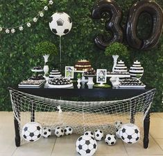 Birthday party ideas for adults decoration ideas Birthday party ideas for adults decoration can find Soccer party and more on ou. Birthday Party Snacks, Sports Themed Birthday Party, Adult Birthday Party, Man Birthday, Soccer Birthday Parties, Football Birthday, Soccer Party, Soccer Banquet, Sports Party