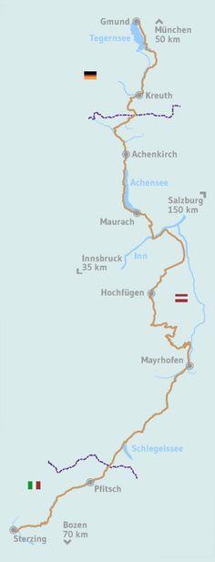 Weg | Die Alpenüberquerung Places To Travel, Places To See, Travel Destinations, Trek Mtb, Work Travel, Wanderlust Travel, Germany Travel, Alps, Outdoor Travel