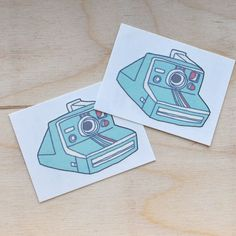 Instant Camera Temporary Tattoos
