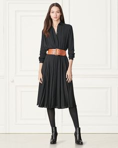 Maxine Silk Shirtdress - Collection Apparel Short - RalphLauren.com