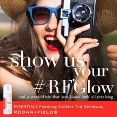 ESSENTIALS Foaming Sunless Tan Show off an even, natural-looking tan without exposing your skin to harmful UVA/UVB rays. This dual-action sunless tanner protects your skin from free radicals while ensuring even, long-lasting color. ekroutil.myrandf.com #RFGlow