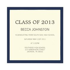 Shop Navy Border Design Graduation Invitations created by AllyJCat. Birdhouse Ideas, Graduation Party Invitations, Graduation Announcements, Border Design, White Envelopes, Custom Invitations, Paper Texture, Special Occasion, Easy Diy
