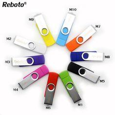 Metal OTG  usb flash drive swivel colorful U disk usb2.0 memory stick 4GB 8GB 16GB pen drive 32GB 64GB high quality pendrive #Affiliate
