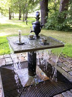 """""""Tea for Two and Two for Tea"""" by John Haly - what a fabulous fountain!"""