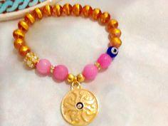 Gypsy sunshine bracelet , bohemian bracelet , evil eye bracelet , ethnic bracelet , amulet bracelet , indie bracelet , Bollywood bracelet by Nezihe1 on Etsy
