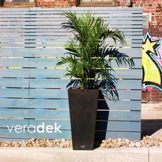 Veradek Midland 16 in. Square Bronze Tall Plastic Planter - MV32R - The Home Depot