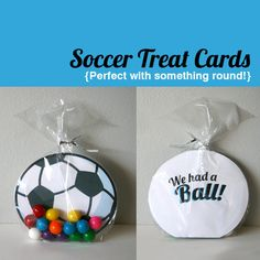 Printable Soccer Cards  We had a Ball by PBJandJ on Etsy, $5.00  Girls aunt Barbie!  The fish one is adorable, too!  Remind me to order the ones you want!