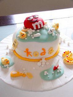 m&m cake