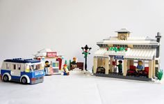 Crayon Winter Village Bus Station by crayonbricks, via Flickr