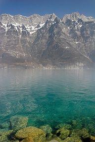 Blue Swiss Lagoon, The Alps, Switzerland  ♥ ♥ www.paintingyouwithwords.com
