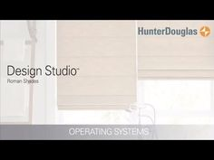 Learn about all of the operating systems available for Design Studio Roman shades.  Hunter Douglas Design Studio Roman shades feature over 300 timeless fabric and color combinations, coordinating decorative tapes and trims, an edited selection of shade and valance styles, and superior craftsmanship.