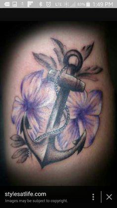 Flower anchor Tattoos Skull, Mom Tattoos, Future Tattoos, Body Art Tattoos, Tattoos For Women, Tatoos, Navy Tattoos, Octopus Tattoos, Anker Tattoo
