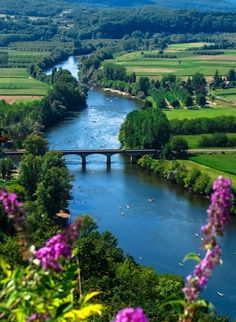 Beautiful River in Domme – France