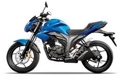 Nearly new blue Suzuki Gixxer for sale at low cost in Dhaka