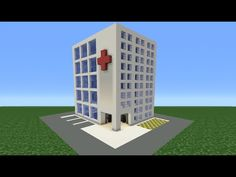Minecraft Tutorial: How To Make A Hospital - Mine Minecraft World Minecraft Mods, Minecraft Stores, Minecraft Modern City, Minecraft Villa, Video Minecraft, Minecraft Mansion, Minecraft House Tutorials, Easy Minecraft Houses, Minecraft Plans