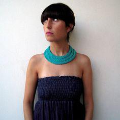 SALE  The triple braid necklace  handmade in by birdienumnumshop
