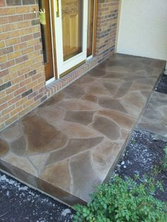 Decorative Concrete Flagstone Porch - Kansas City - Decorative Concrete Kingdom