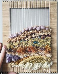 Two friends send this weaving back and forth and add a little more to it each time <3