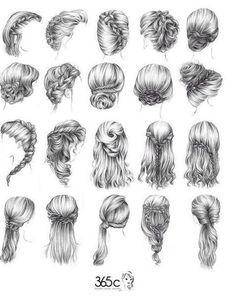 Frisuren Zeichnen - Frisuren 2018 Dibujar peinados - Pin von Ana Flávia gen chibi's Cartoon Drawings, Easy Drawings, Drawing Sketches, Drawing Drawing, Sketching, Easy Sketches, Pen Drawings, How To Draw Braids, How To Draw Hair