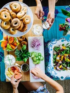 How to Setup the Ultimate Bagel Bar   Camille Styles