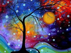colorful paintings | Colorful Landscape Painting by MADART