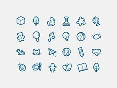 Early Learning Icon Set