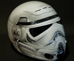 Stormtrooper Motorcycle Helmet-perfect for rides for ice cream with Dad!