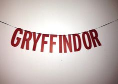 Harry Potter Gryffindor Handmade Banner by ThePatchriarchy