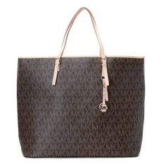 Michael Kors bags and Michael Kors handbags Michael Kors Jet Set Logo Macbook Travel Large Tote Brown $104.99