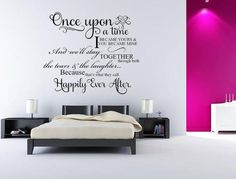 Once Upon A Time I Became Yours - Vinyl Wall Sayings - Inspirational Wall Signs - Inspirational Wall Signs Girls Room Wall Decor, Playroom Decor, Vinyl Wall Quotes, Vinyl Wall Decals, Wall Stickers, Nursery Decals Girl, Custom Wall Decals, Family Wall, Wall Signs