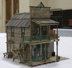 Railroad Line Forums Old West Town, Christmas Village Display, N Scale Trains, Wood Lamps, Tiny House Plans, Miniature Houses, Ghost Towns, Model Homes, Birdhouse