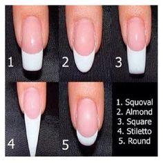 Filing the nails???