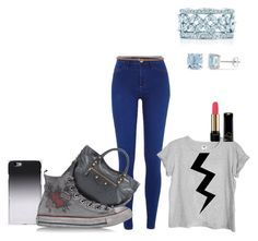 """""""Brie / 4.6 xo"""" by palefiction ❤ liked on Polyvore featuring C6, River Island, Balenciaga, Converse, Ice, Lancôme and Pinko"""