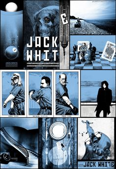 Jack White gig posters by Rob Jones