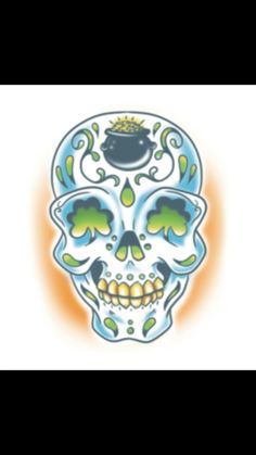Irish sugar skull