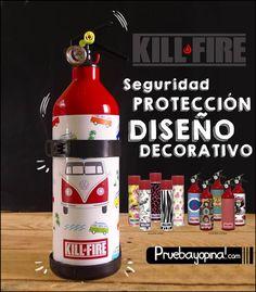 La seguridad contra el fuego es importante tenerla siempre en cuenta, os presentamos los extintores personalizados Kill-Fire que serán una pieza decorativa