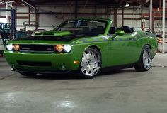Dodge Challenger Convertible. Green with envy.
