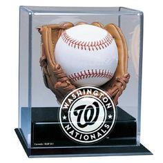 Washington Nationals MLB Soft Brown Glove Baseball Display