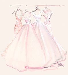 illustration for the Madison James Bridal Collection, by Katie Rodgers~❥