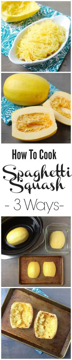 Want to learn how to cook spaghetti squash? Here are 3 different ways to try it, plus recipe ideas!