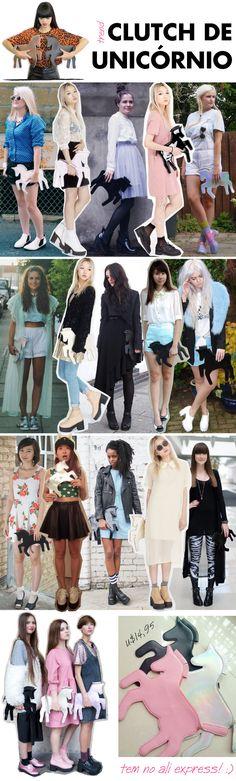 Bolsa unicornio, trend, tendencia, unicorn, clutch, holográfica, ali express, white pepper, asos, looks