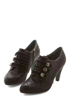 Steampunk shoes! Fleur Those About to Walk Heel $139.99 #steampunk  #boots #shoes