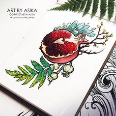 Tatoo Art, Body Art Tattoos, New Tattoos, Cool Tattoos, Pomegranate Tattoo, Pomegranate Art, Design Tattoo, Tattoo Designs, Tattoo Sketches