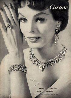 Linda Harper, Cartier ad, 1956 | Sophia | Flickr