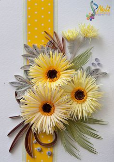 Neli Quilling Art: Yellow flowers
