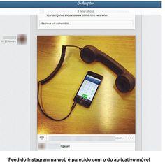 nstagram libera feed na versão para web , iai curtiram ? Será que vai economizar o nosso móvel ? #feed #instagram #media #midias #redessociais #agencia3b #news #diaadia #tecnilogia